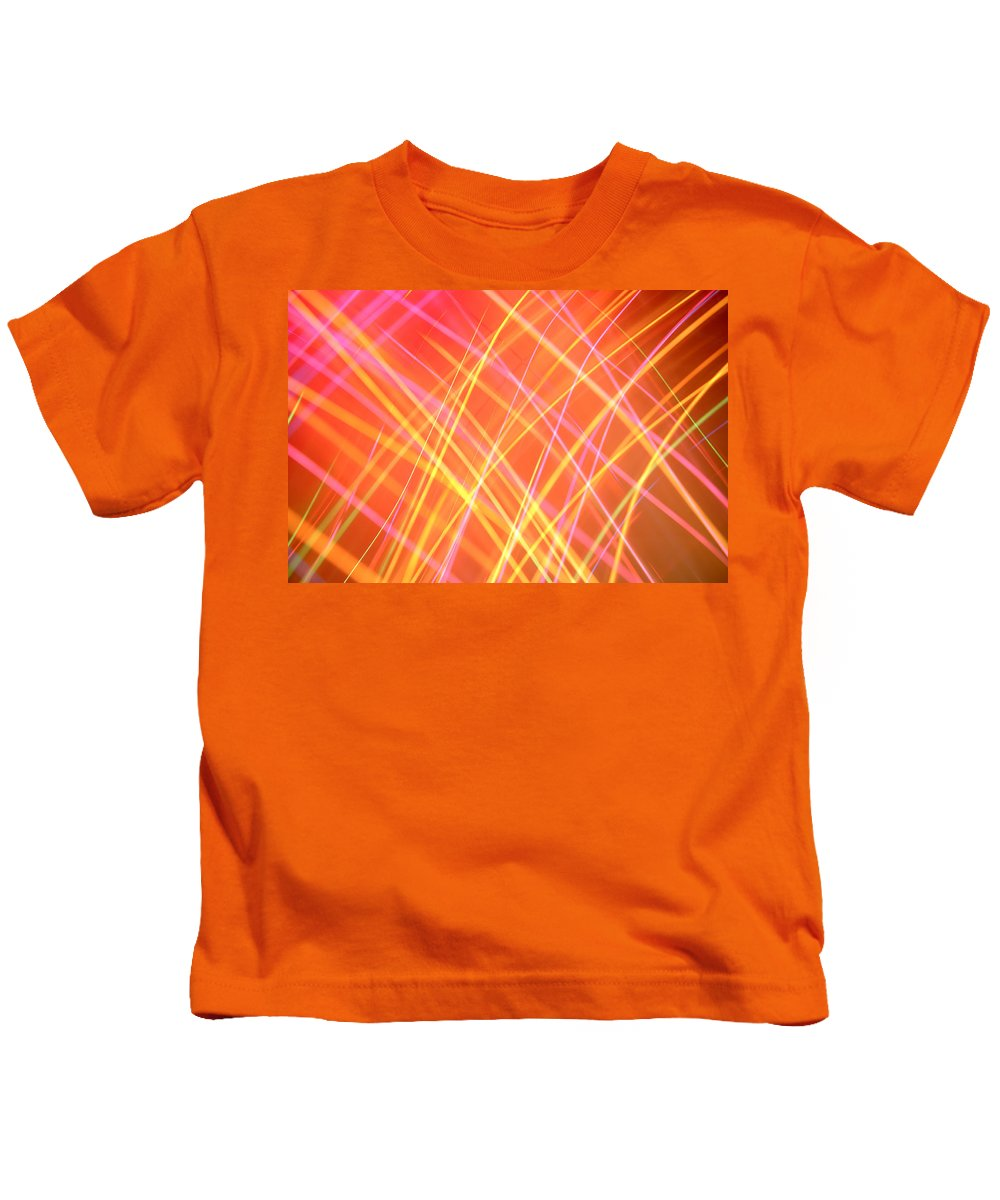 Abstract Kids T-Shirt featuring the photograph Energy Lines by Les Cunliffe