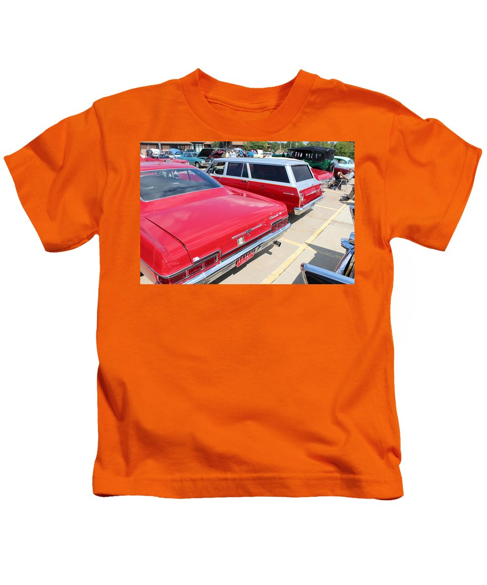 Kids T-Shirt featuring the photograph 1966 Chevrolet by R A W M