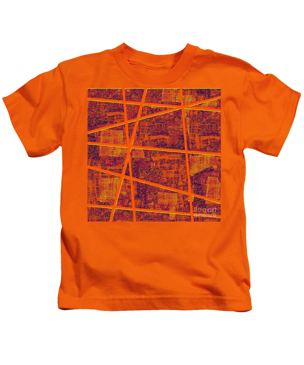 Abstract Kids T-Shirt featuring the digital art 0191 Abstract Thought by Chowdary V Arikatla