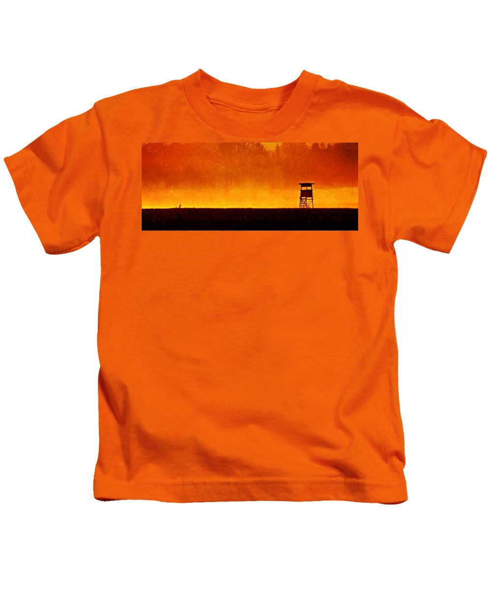 Flora Kids T-Shirt featuring the mixed media Country Life by Heike Hultsch