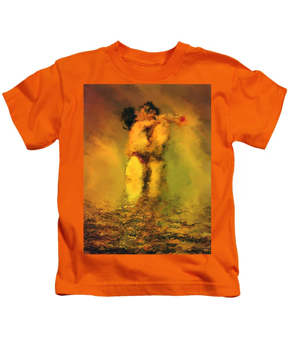 Nudes Kids T-Shirt featuring the photograph Lovers by Kurt Van Wagner