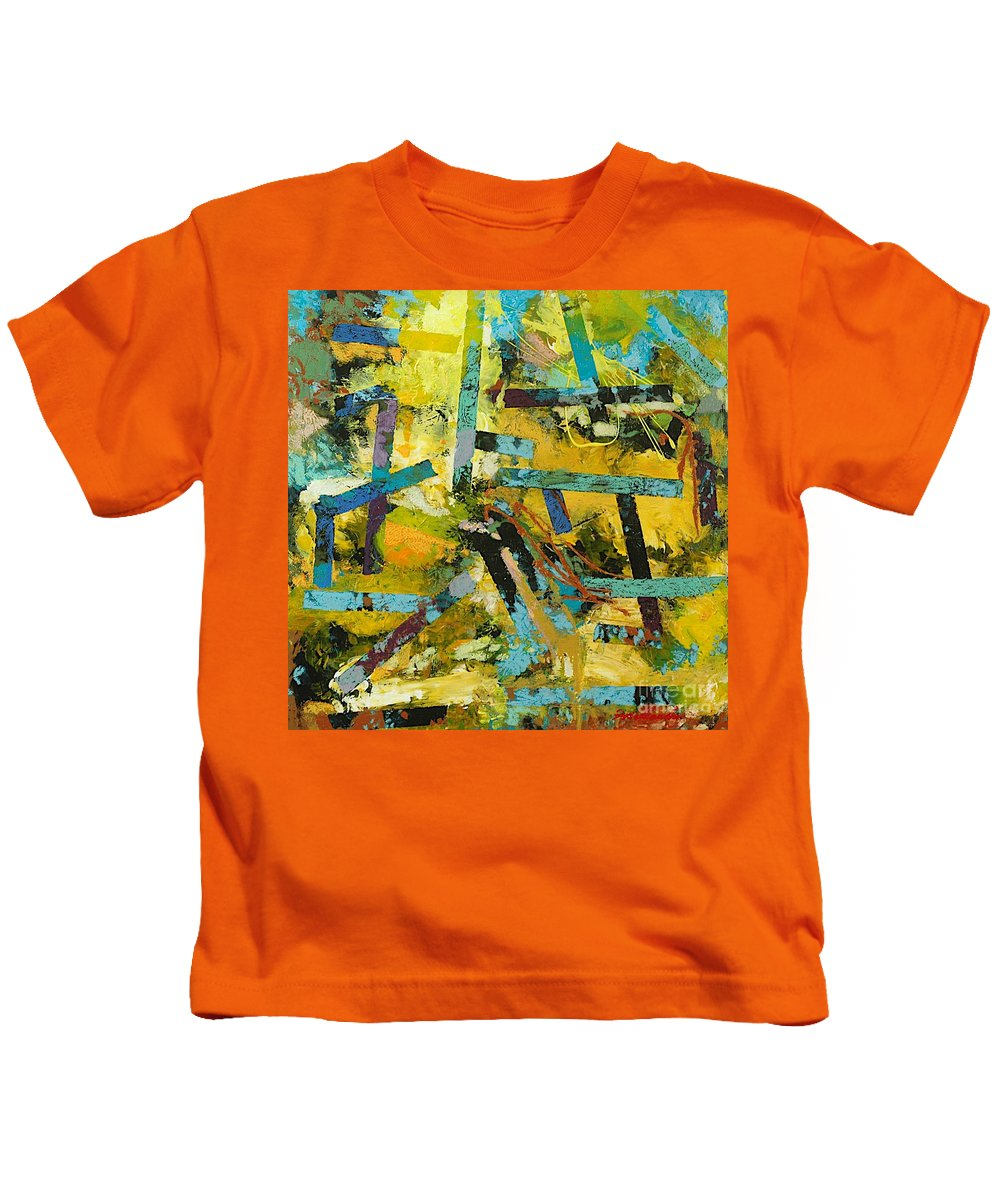 Landscape Kids T-Shirt featuring the painting Sweet Swanee by Allan P Friedlander