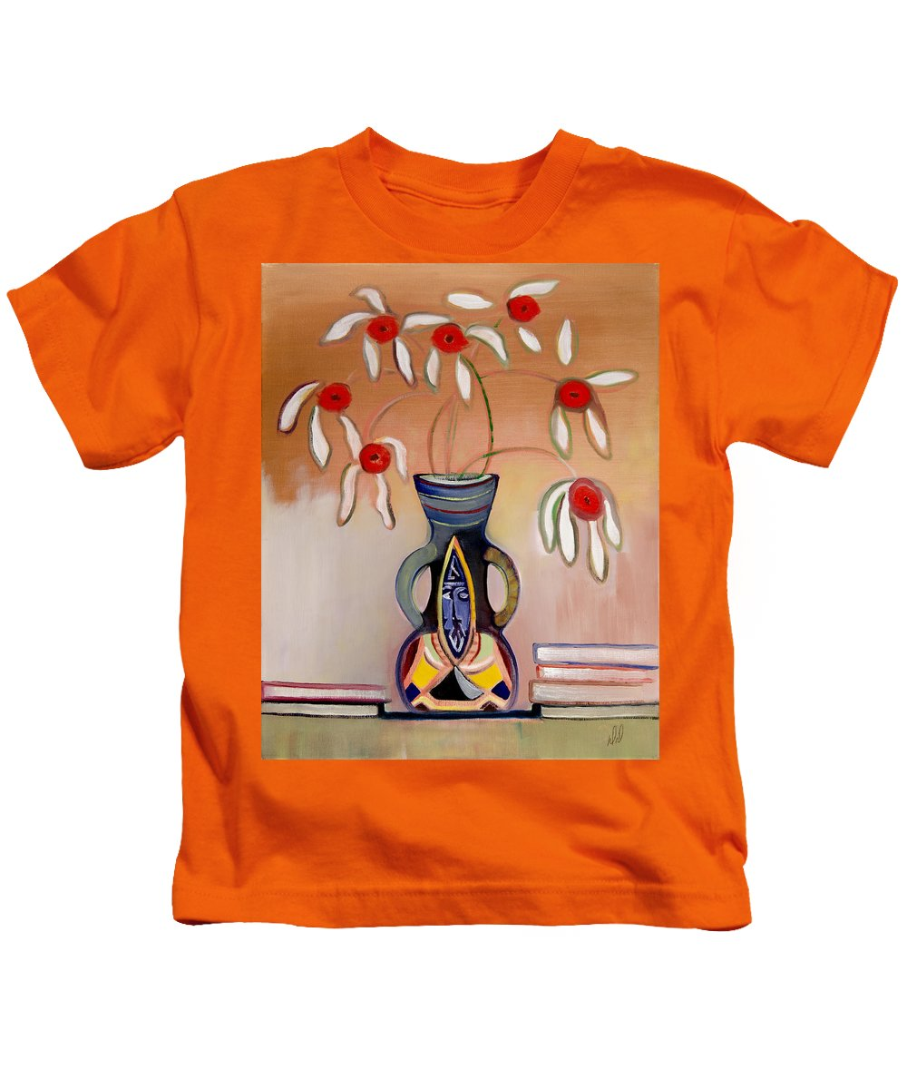 Flowers Kids T-Shirt featuring the painting Watch Out by Dennis Davis