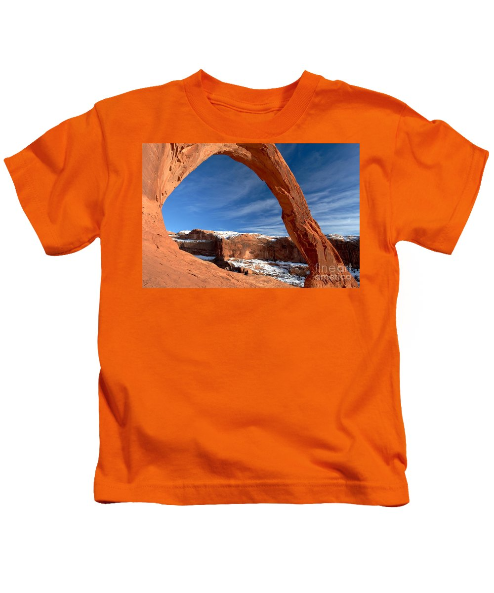 Coronoa Arch Kids T-Shirt featuring the photograph A Large Corona by Adam Jewell