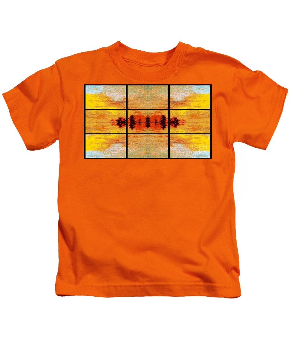 Tapestry Kids T-Shirt featuring the photograph Abstract Cracker Tapestry by Nina Silver