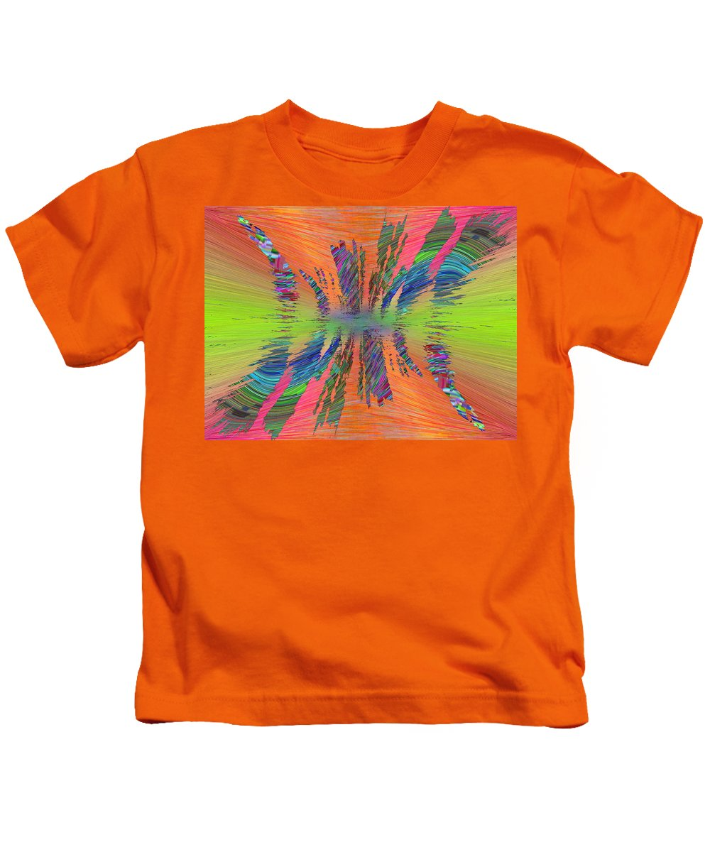 Abstract Kids T-Shirt featuring the digital art Abstract Cubed 168 by Tim Allen