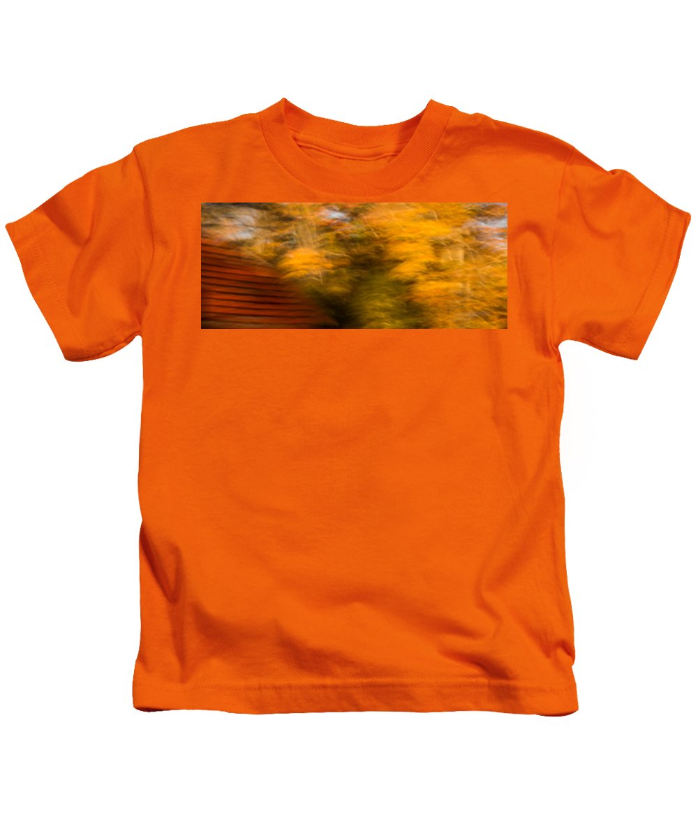 Autumn Kids T-Shirt featuring the photograph Abstract Fall 3 by Joye Ardyn Durham