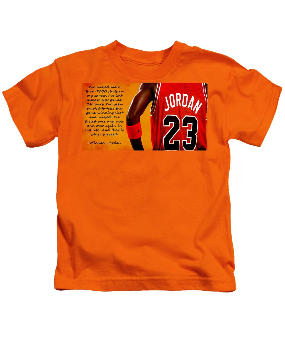20fb6058 Air Jordan Success Quote Kids T-Shirt for Sale by Brian Reaves