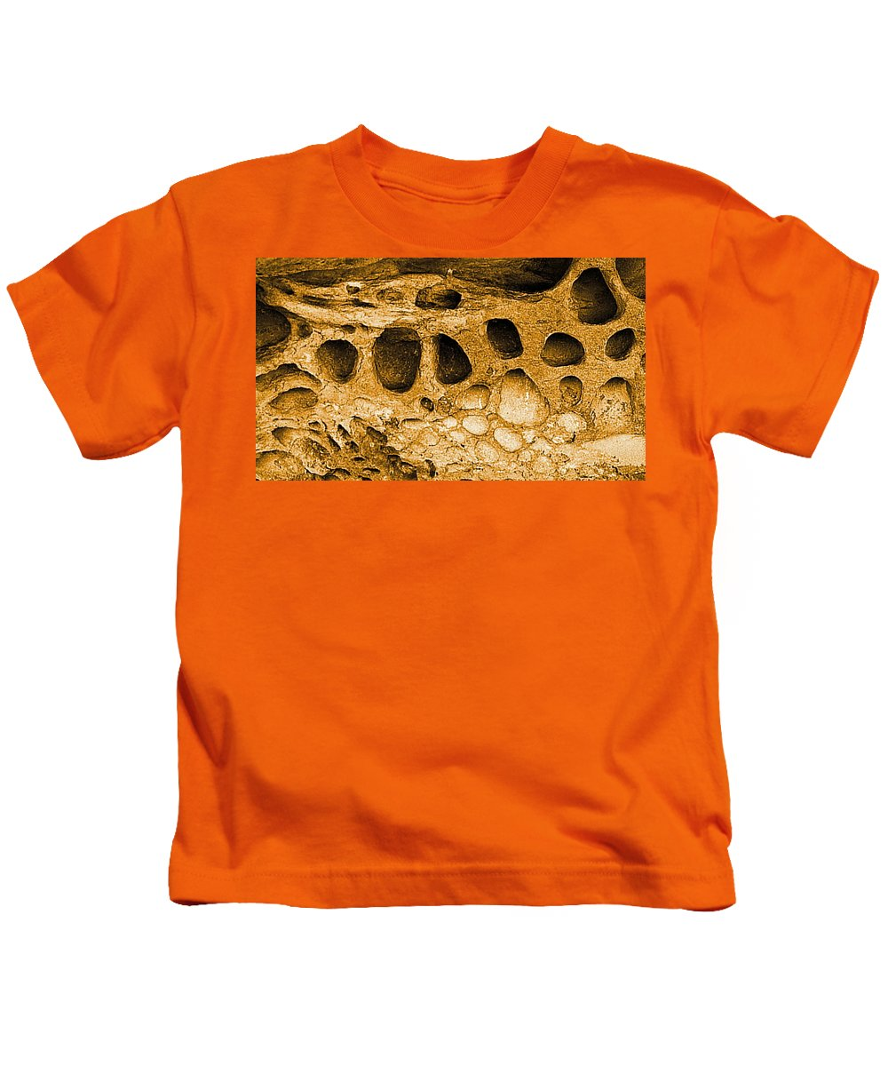 Digital Enhanced Color Photo Kids T-Shirt featuring the digital art Ancient Rock In Canyonlands 2 by Tim Richards