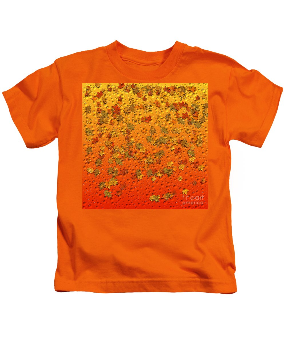Autumn Kids T-Shirt featuring the painting Autumn Rain by Barbara Milton