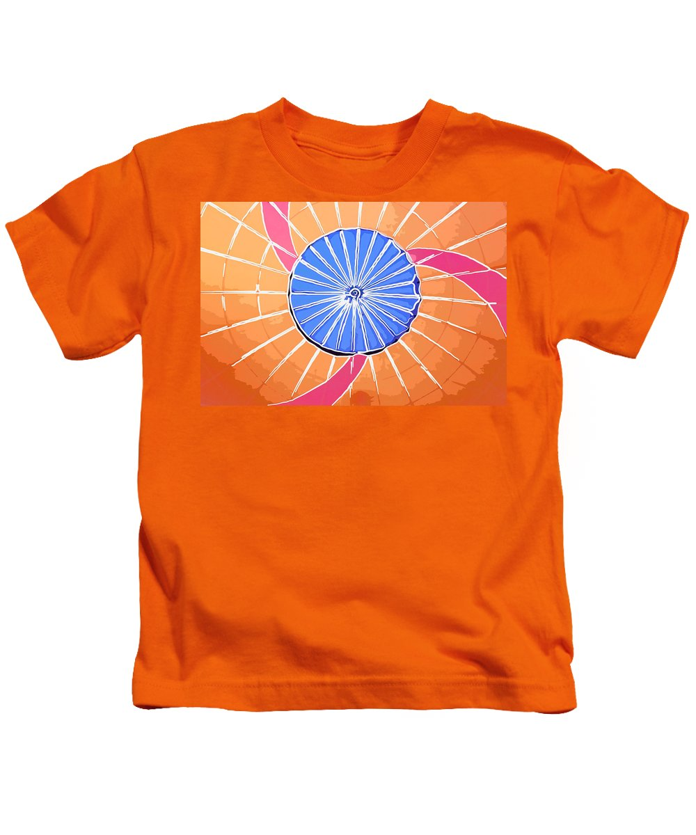 Hot Air Balloon Abstract Kids T-Shirt featuring the photograph Balloon Colored by Alice Gipson
