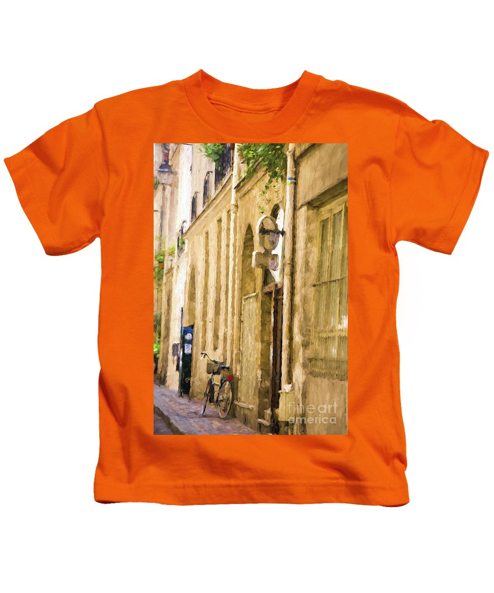 Paris Kids T-Shirt featuring the photograph Bicycle in Paris by Sheila Smart Fine Art Photography