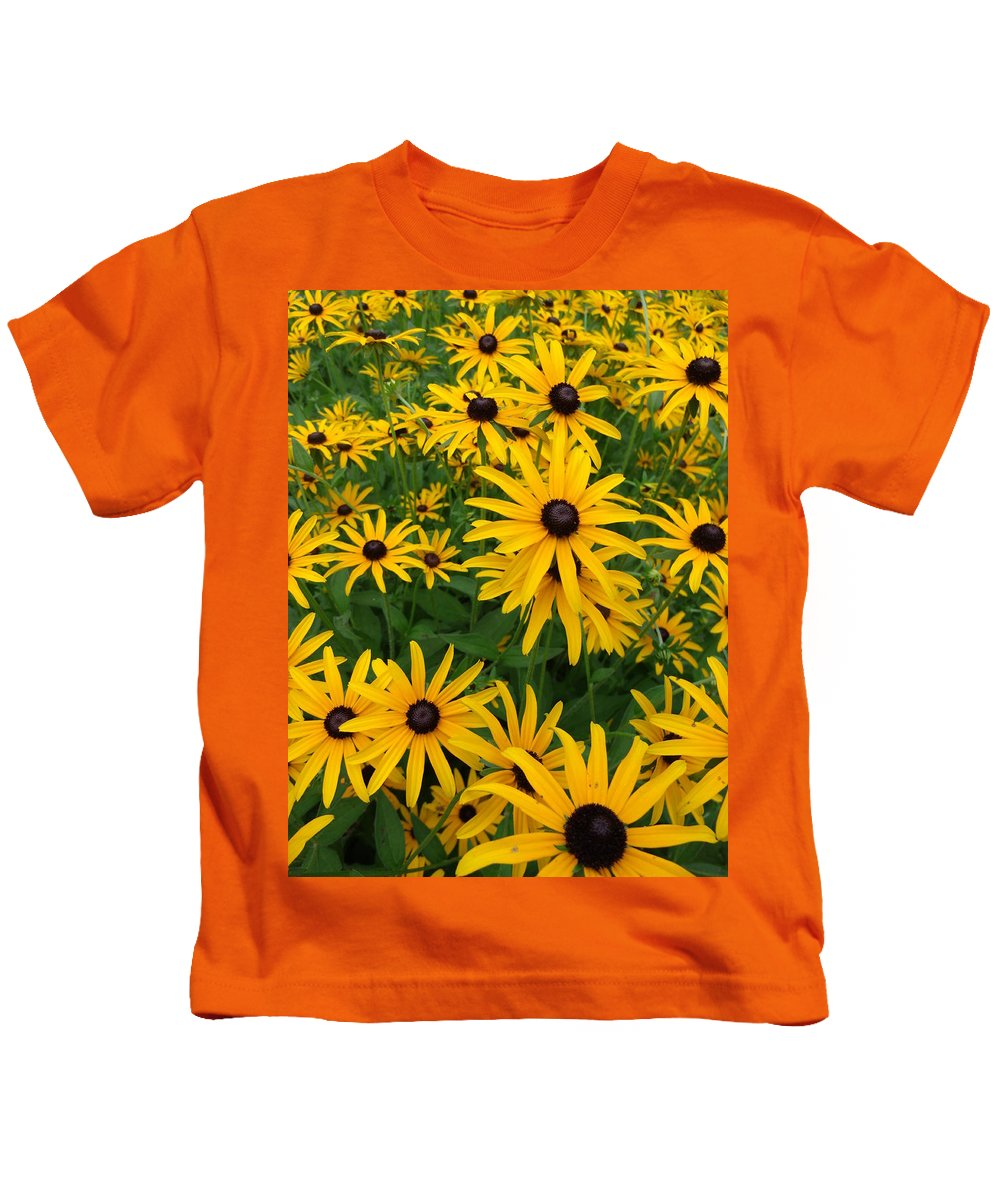 Flowers Kids T-Shirt featuring the photograph Black Eyed Susan's by Erin Rednour
