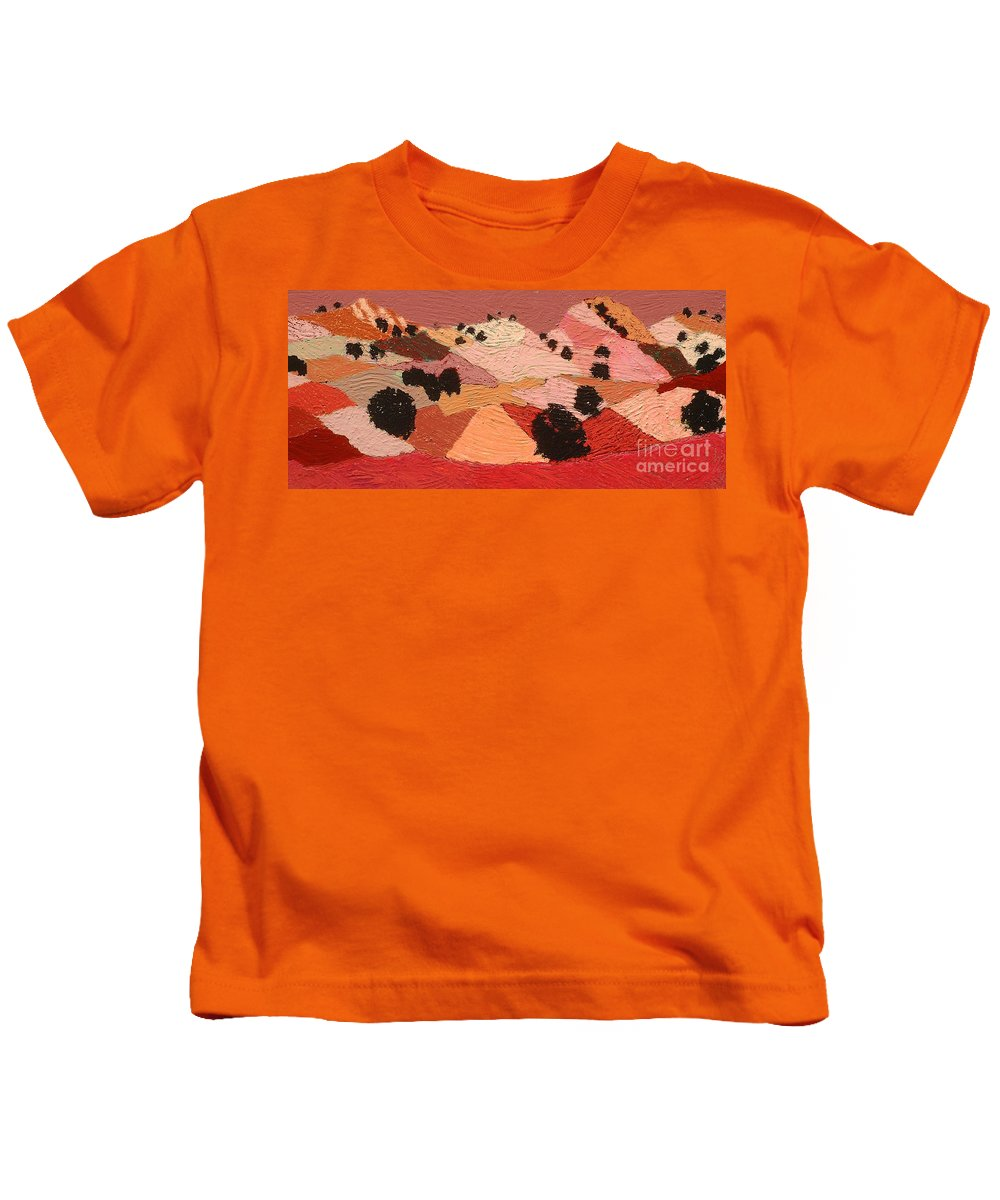 Landscape Kids T-Shirt featuring the painting Broad View by Allan P Friedlander