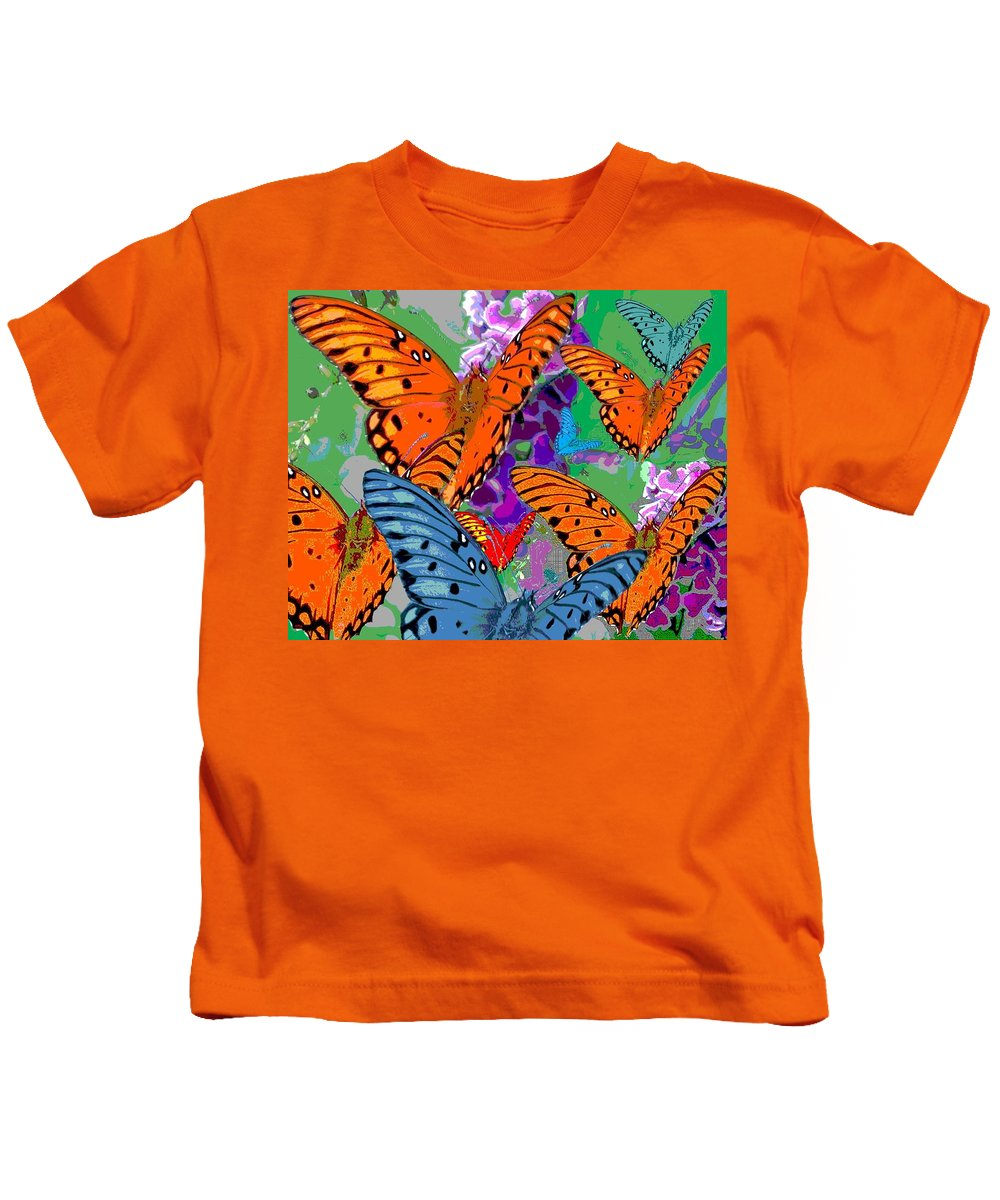 Butterfly Kids T-Shirt featuring the digital art Butterfly Joy by Mary Armstrong