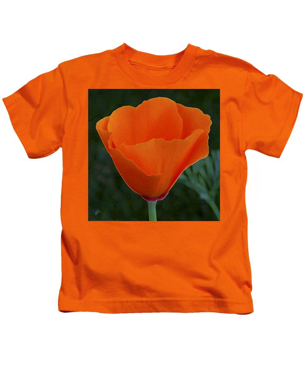 California Poppy Kids T-Shirt featuring the photograph California Poppy Spectacular by Ben and Raisa Gertsberg