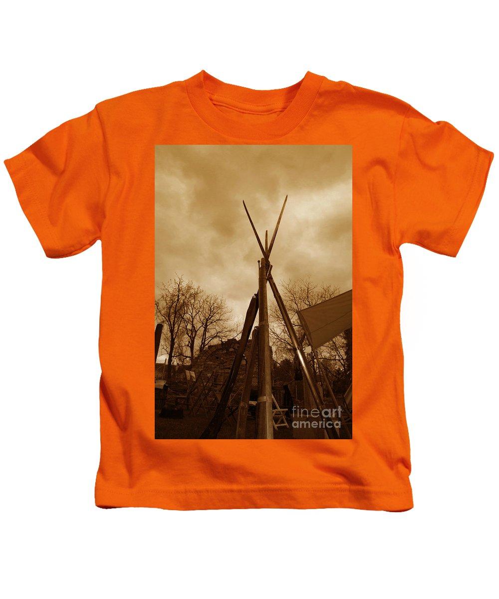 Civil War Kids T-Shirt featuring the photograph Civil War Camp by Paul Ward