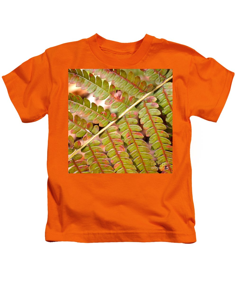 Fern Kids T-Shirt featuring the photograph Colorful Fern Square by Carol Groenen