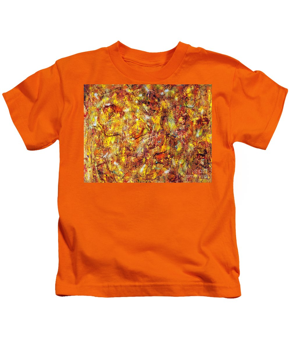 Abstract Contemporary Acrylic Painting On Canvas Kids T-Shirt featuring the painting Colors In Motion by Yael VanGruber