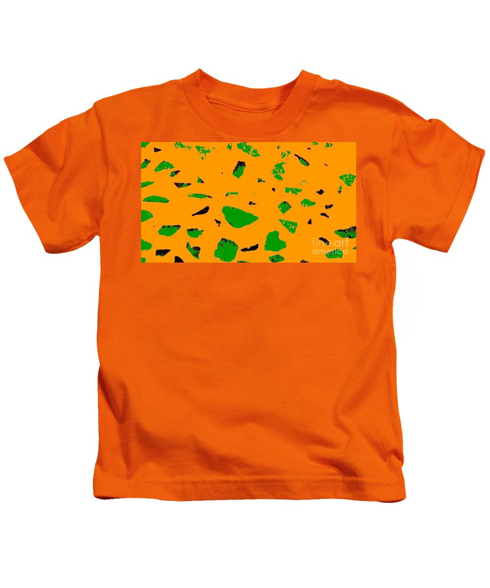 Creamsicle Kids T-Shirt featuring the photograph Creamsicle Orange Abstract by Eric Schiabor