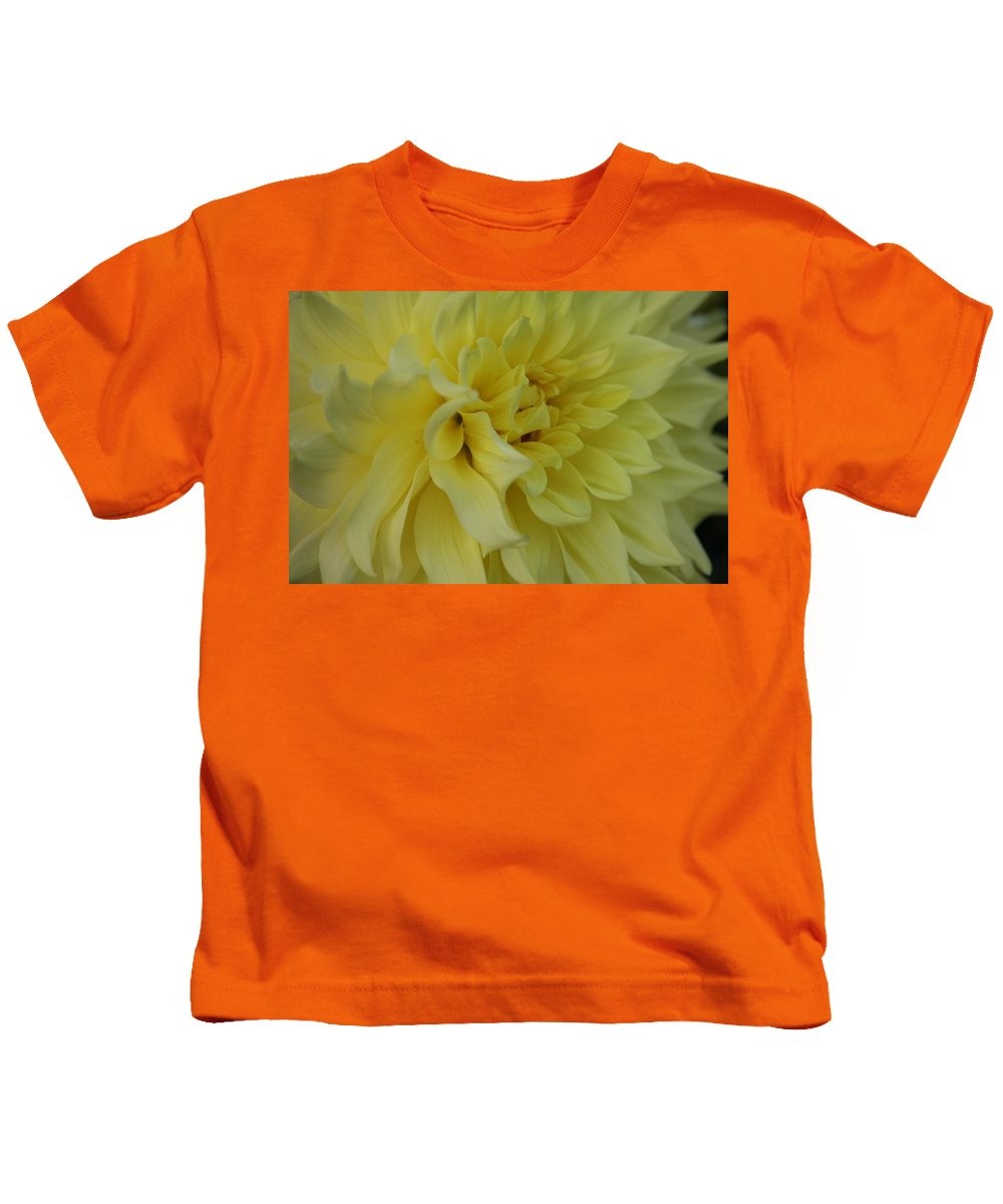 Dahlia Kids T-Shirt featuring the photograph Dahlia Macro by Christiane Schulze Art And Photography