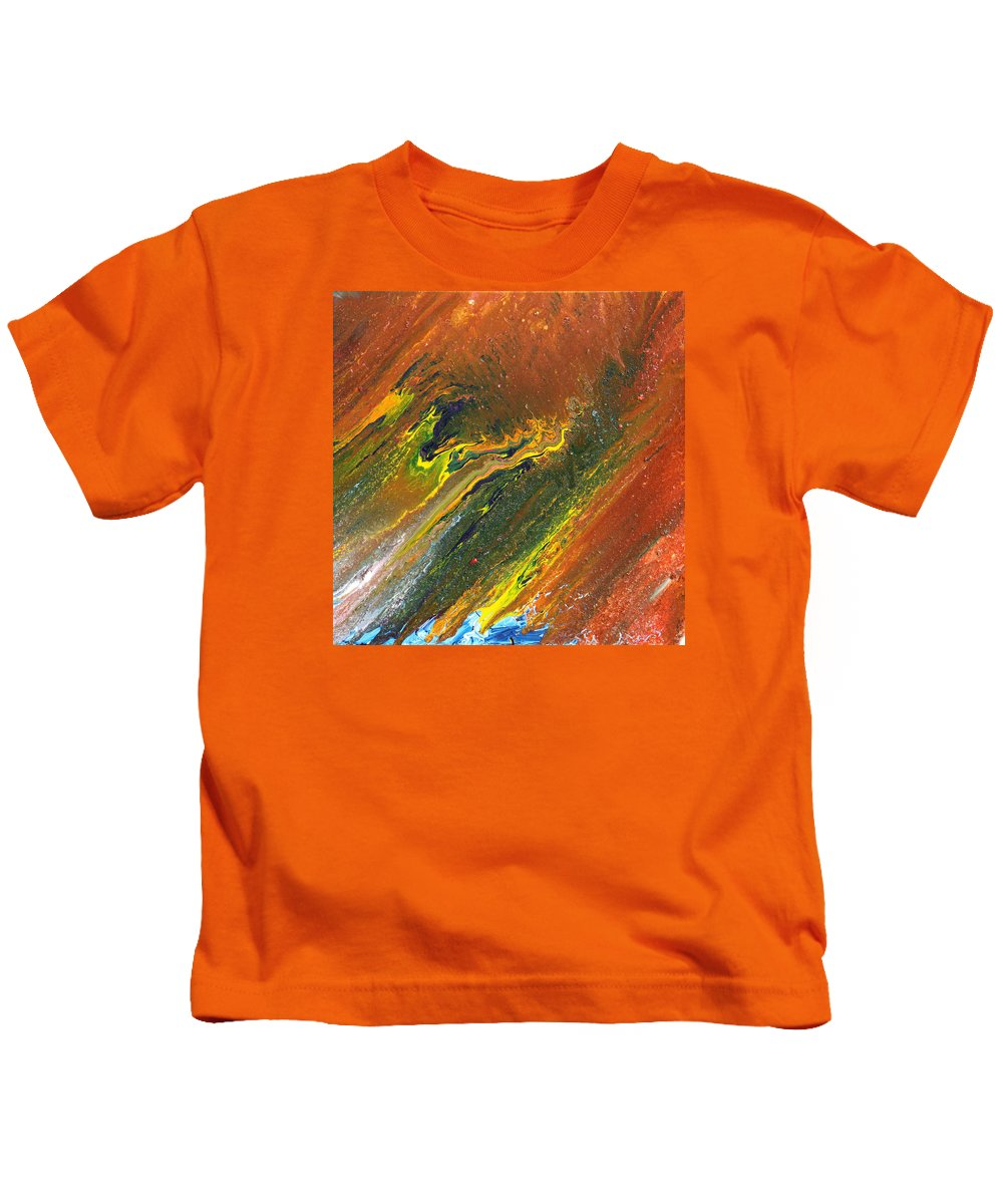 Fusionart Kids T-Shirt featuring the painting Distance by Ralph White
