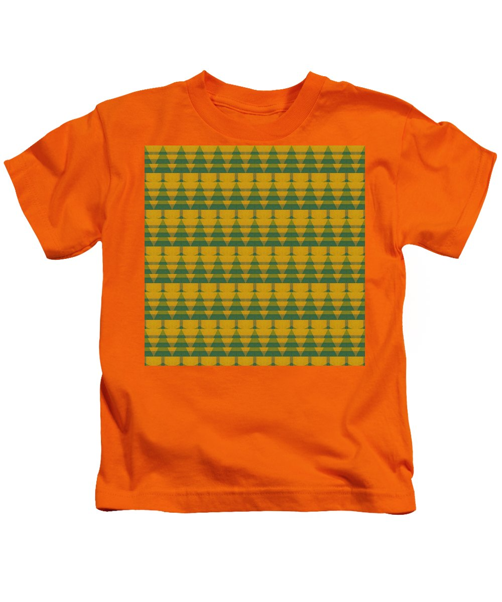 Pine Trees Kids T-Shirt featuring the digital art Endless Forest by Michelle Calkins