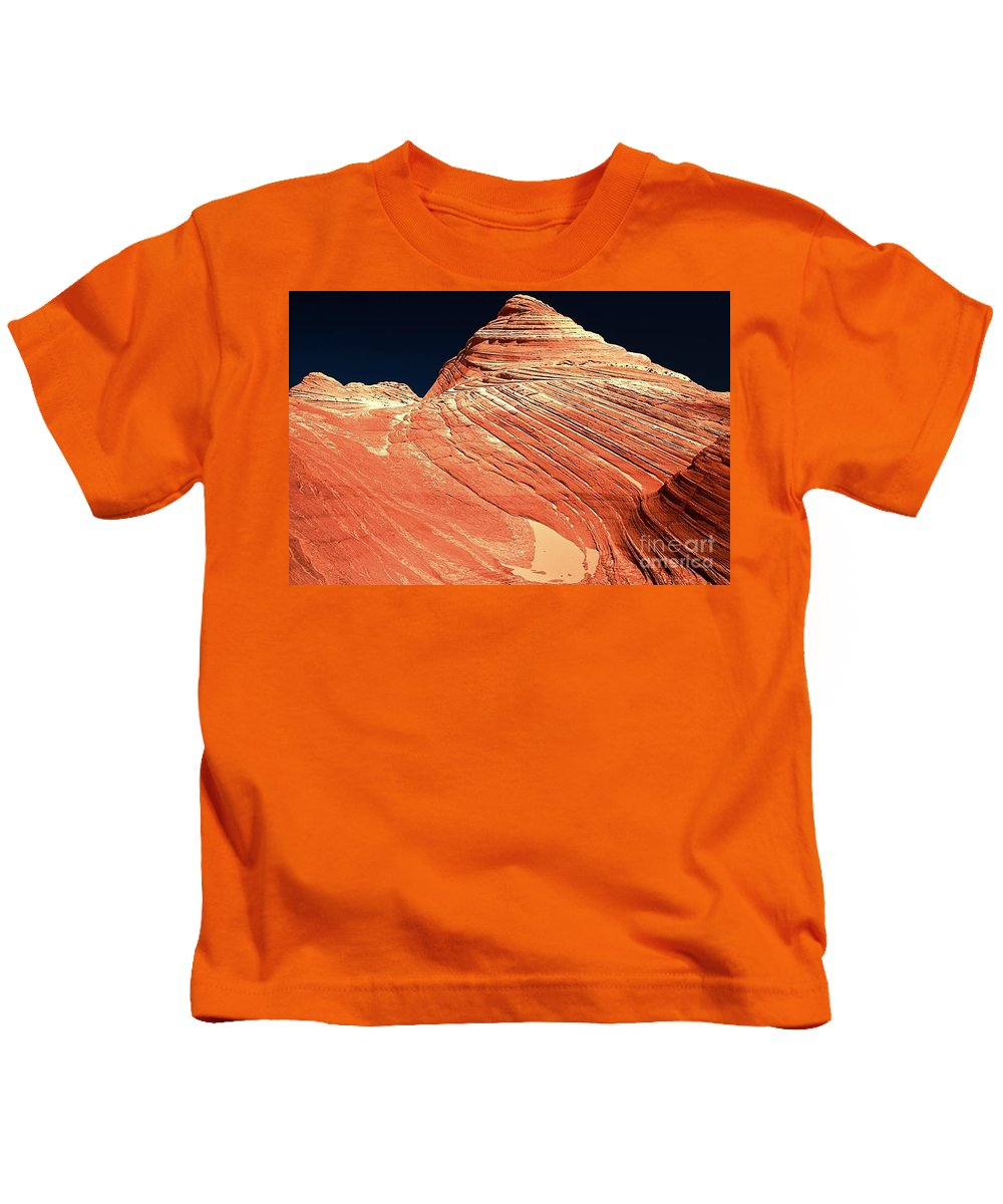 Coyote Buttes Kids T-Shirt featuring the photograph Endless Lines In Sandstone by Adam Jewell