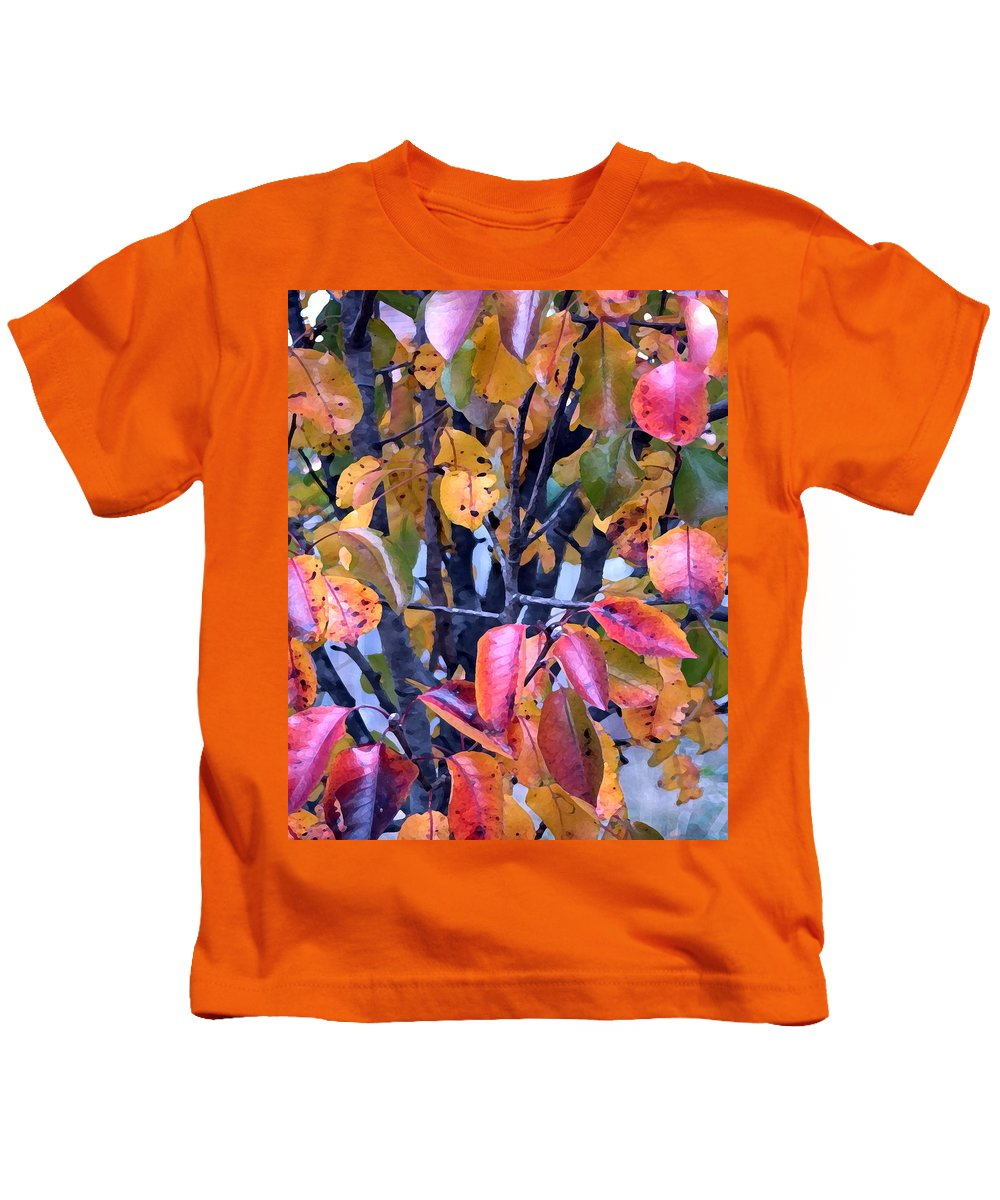 Tree Kids T-Shirt featuring the photograph Fall Colors by Jeanne A Martin