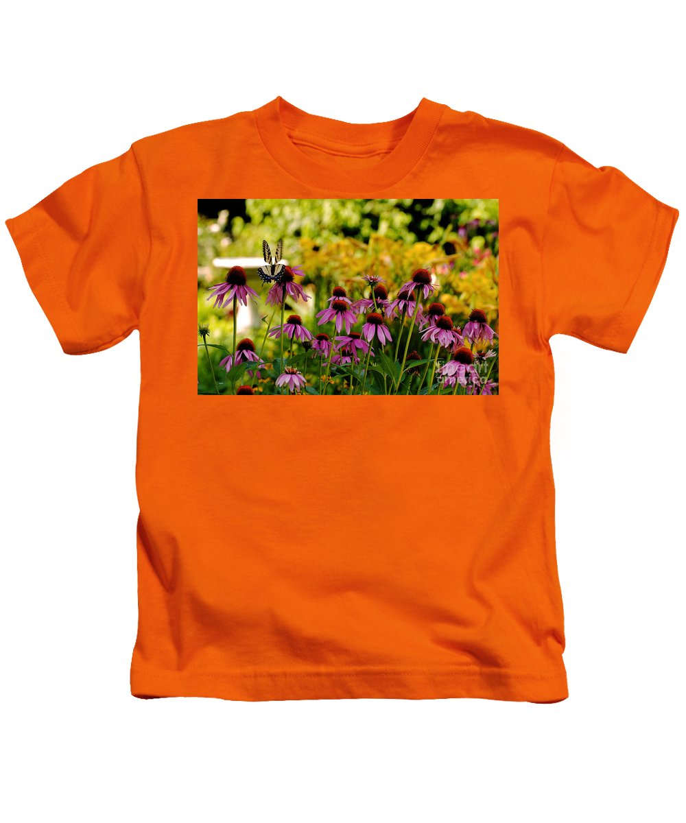 Butterfly Kids T-Shirt featuring the photograph Float Like A Butterfly by Lois Bryan