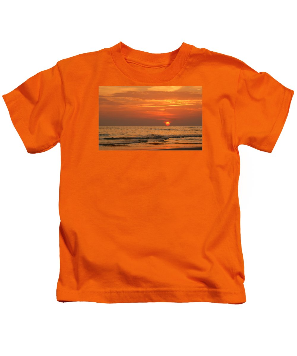 Panama City Beach Kids T-Shirt featuring the photograph Florida Sunset by Sandy Keeton