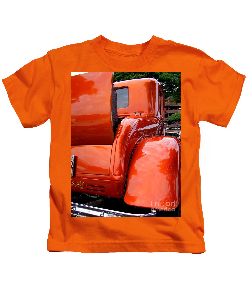 Ford V8 Kids T-Shirt featuring the photograph Ford V8 Rear View With Rumble Seat by Mary Deal