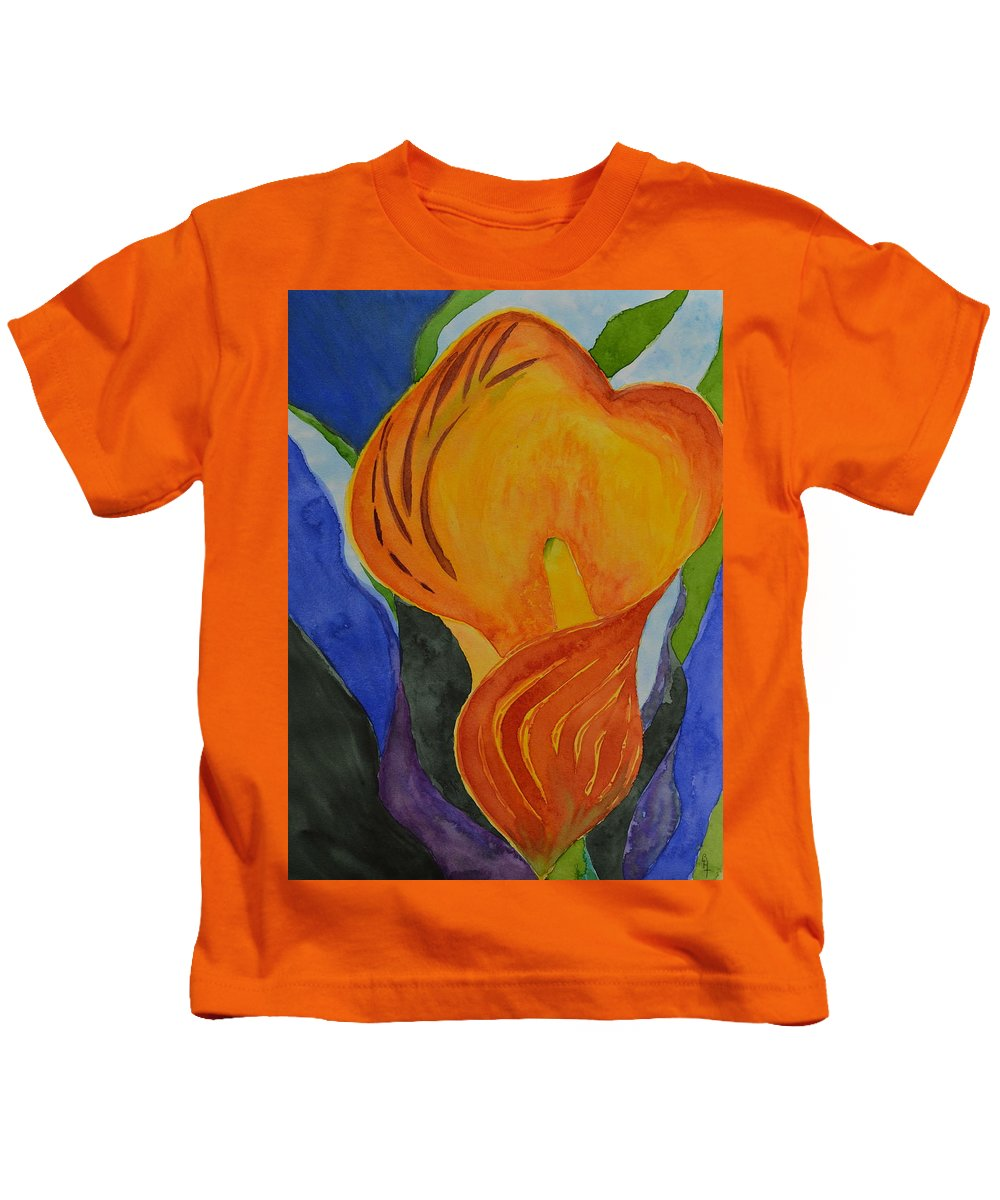 Lily Kids T-Shirt featuring the painting Form by Beverley Harper Tinsley