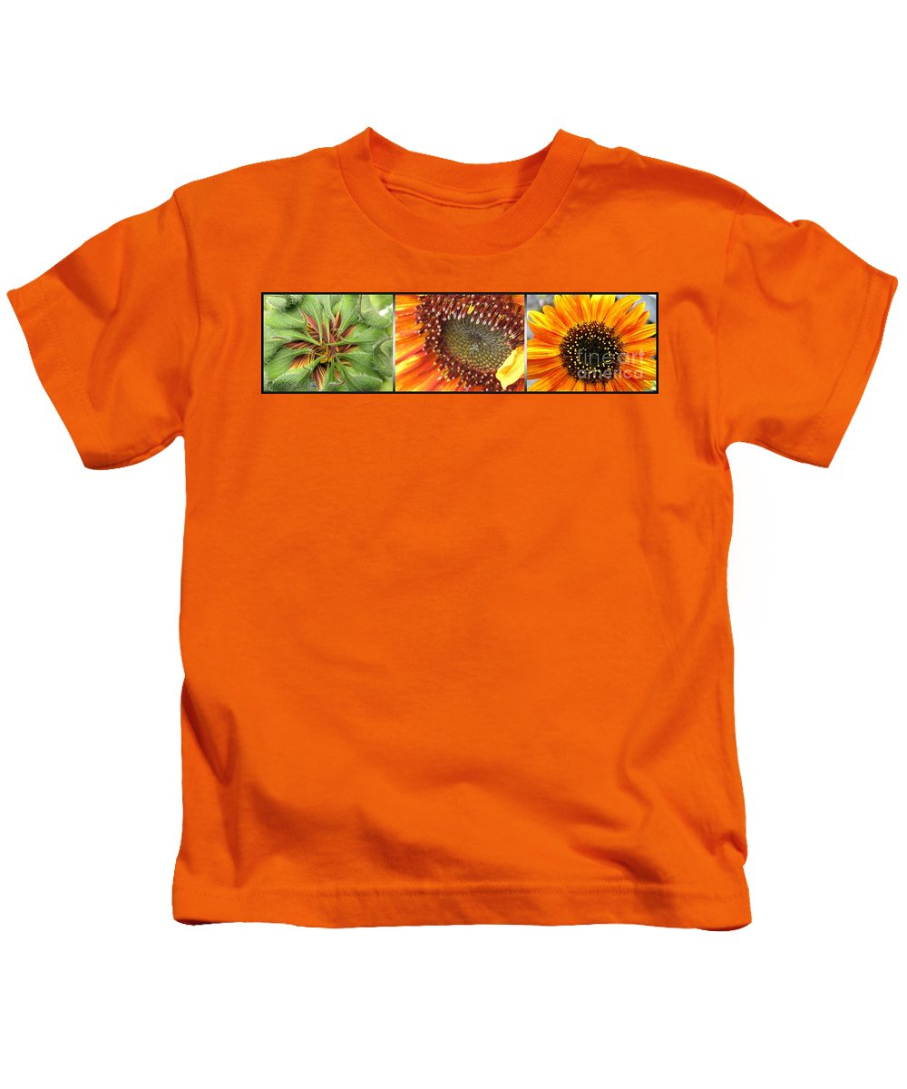 Mccombie Kids T-Shirt featuring the photograph From Bud To Bloom - Sunflower by J McCombie