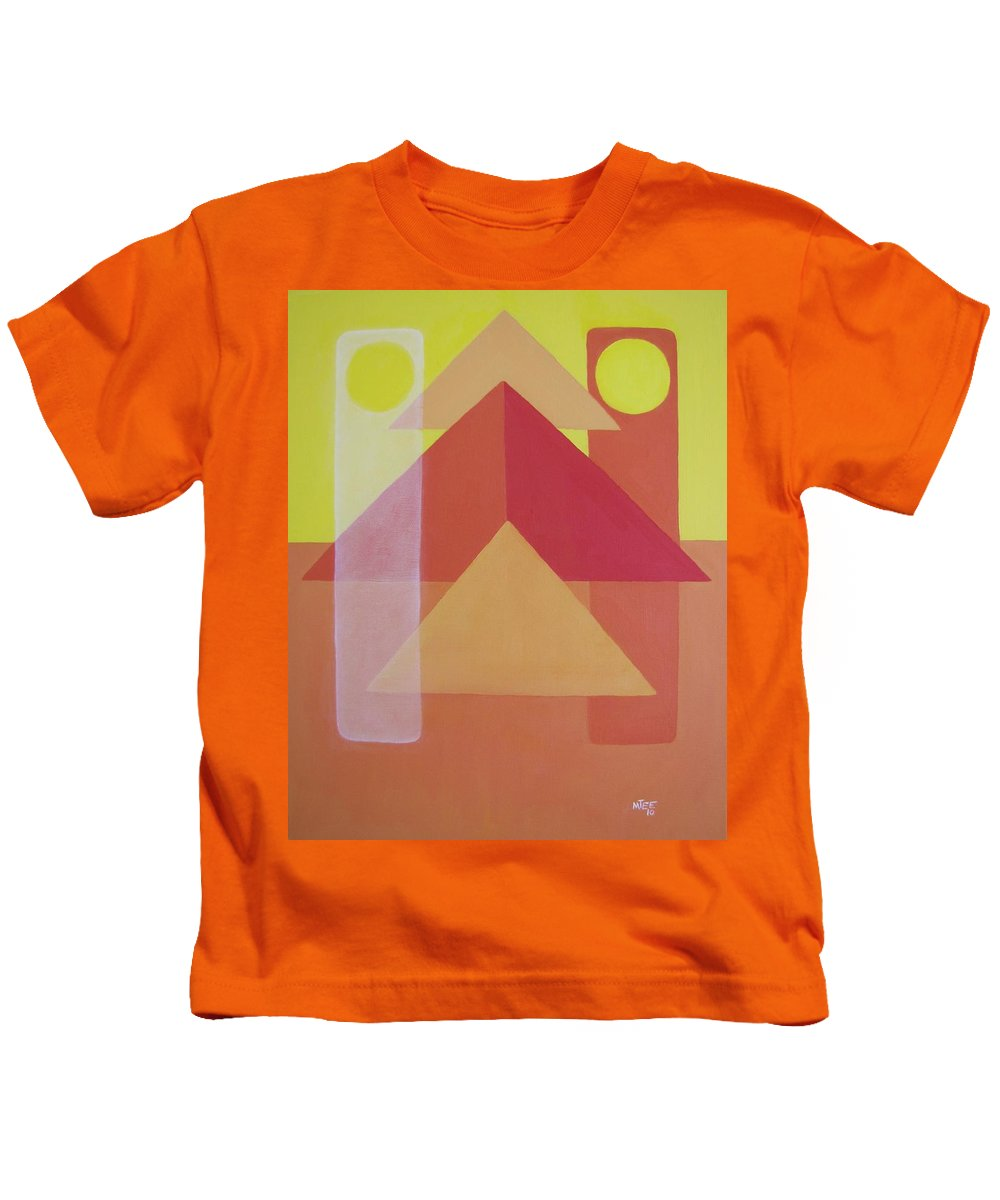 Giza Kids T-Shirt featuring the painting Giza by Michael TMAD Finney AKA MTEE