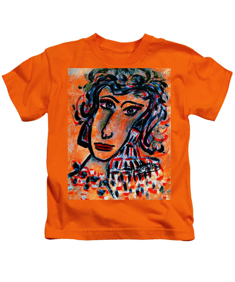 Glamour Kids T-Shirt featuring the painting Glamour by Natalie Holland