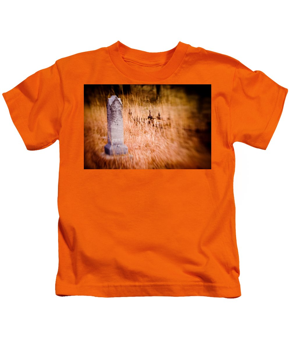 Color Kids T-Shirt featuring the photograph Graveyard 6792 by Timothy Bischoff