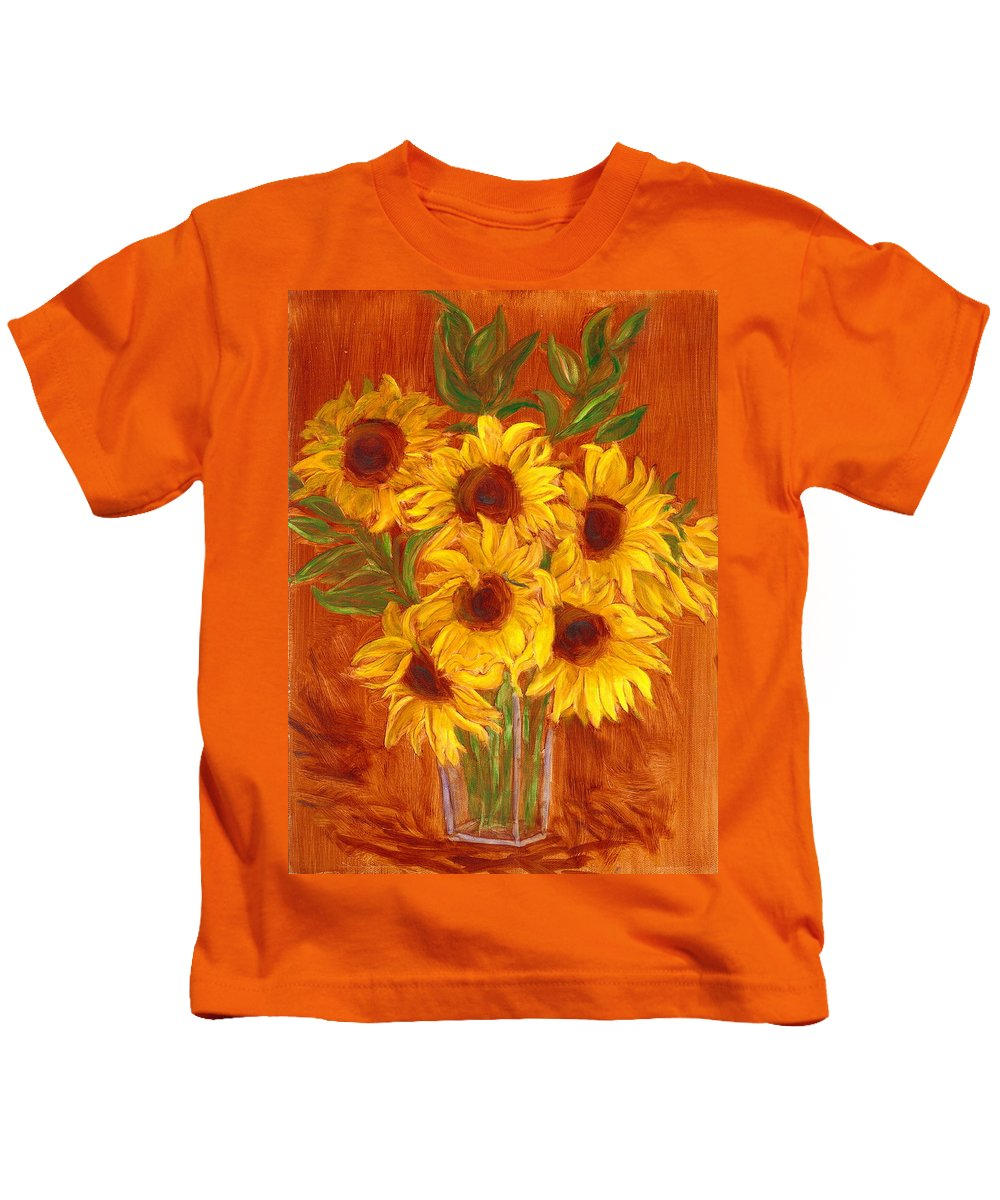 Still Life Kids T-Shirt featuring the painting Happy Mother's Day by Paula Emery