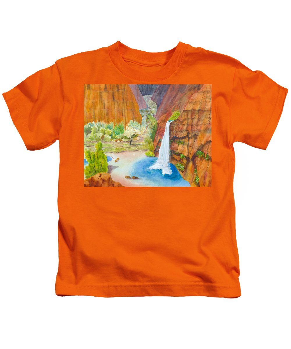 Canyon Kids T-Shirt featuring the painting Havasupai Vista by Melanie Harman