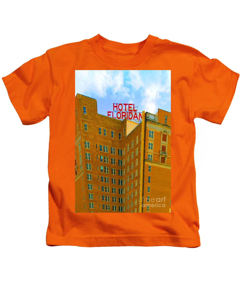 Hotel Kids T-Shirt featuring the photograph Hotel Floridan by Jost Houk