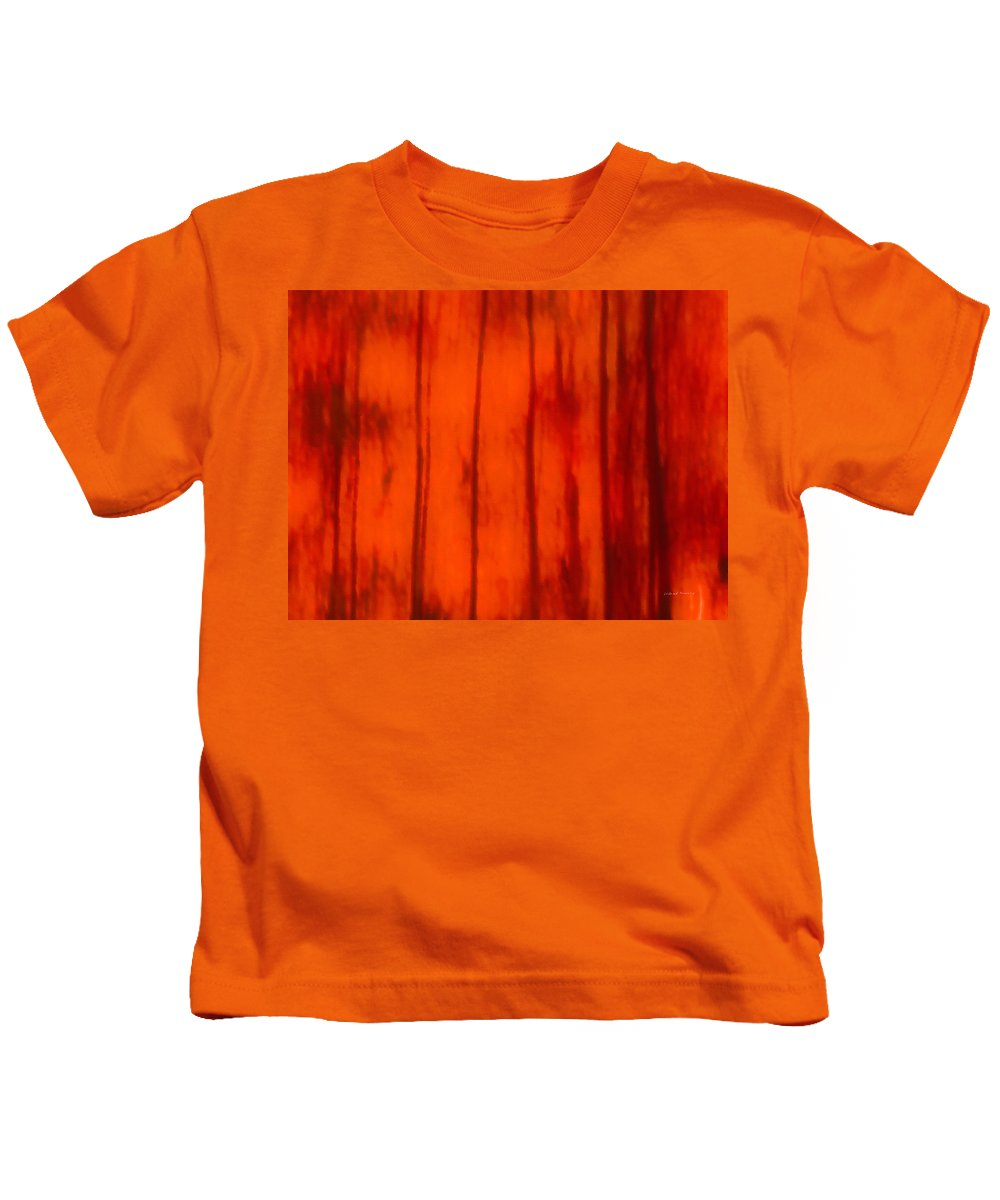 Abstract Kids T-Shirt featuring the mixed media Impressionistic Autumn 4 by Leland D Howard