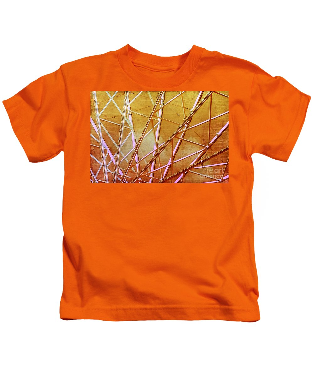 Carnival Kids T-Shirt featuring the photograph Inside The Ferris Wheel by Judi Bagwell