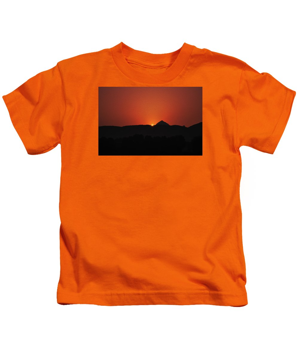 Sunset Kids T-Shirt featuring the digital art Just Before The Sunset by Bliss Of Art