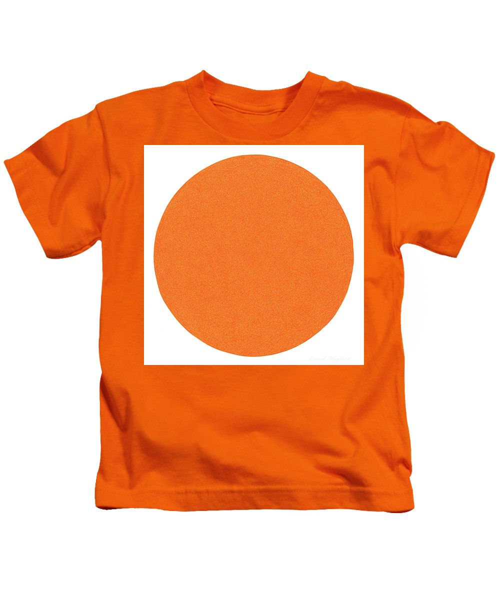 Orange Kids T-Shirt featuring the drawing Laranja by Dave Migliore