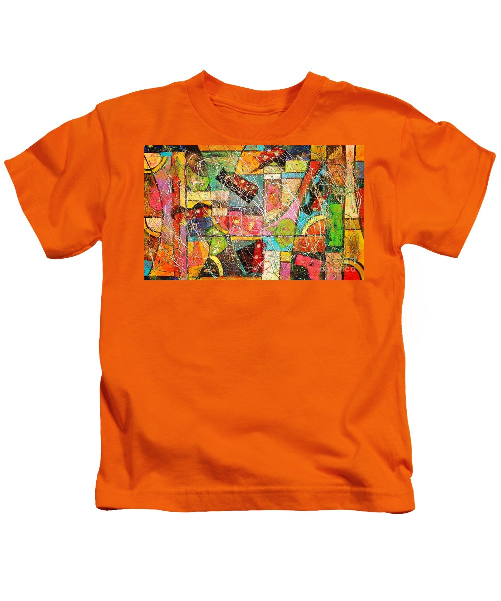 Paintings Kids T-Shirt featuring the painting Life Is Beautiful by Yael VanGruber