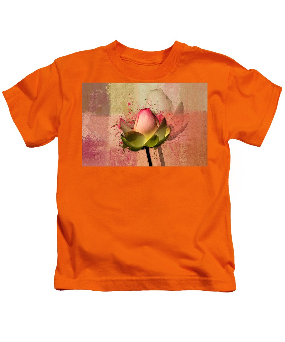 Waterlily Kids T-Shirt featuring the photograph Lily My Lovely - S03d4 by Variance Collections
