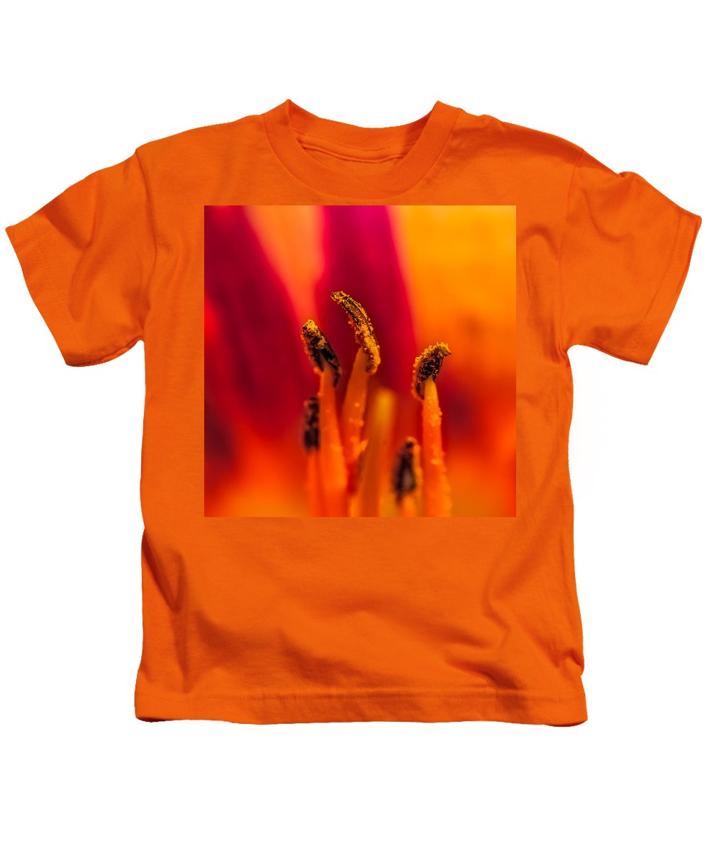 Bloom Kids T-Shirt featuring the photograph Lily Stamen by Paul Freidlund
