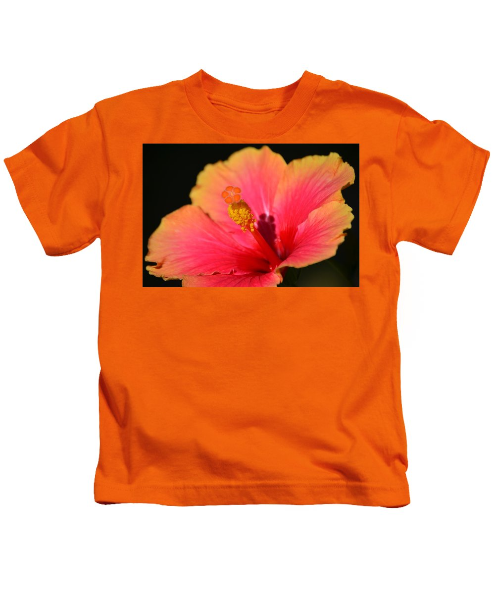 Flower Kids T-Shirt featuring the photograph Lone Hibiscus by Starla Shepherd