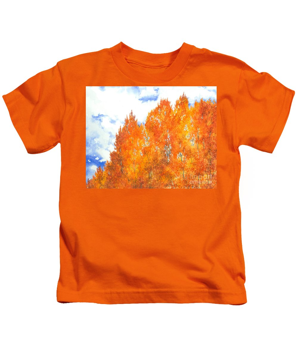 Water Color Paintings Kids T-Shirt featuring the painting Look To The Heavens by Barbara Jewell