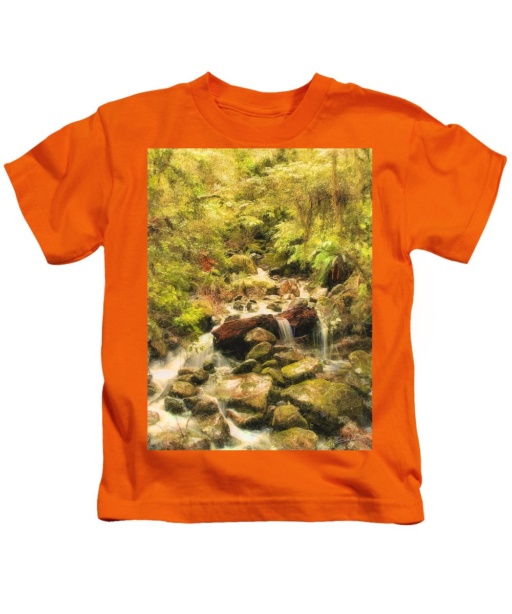 Forest Kids T-Shirt featuring the photograph Misty Creek by Dale Jackson